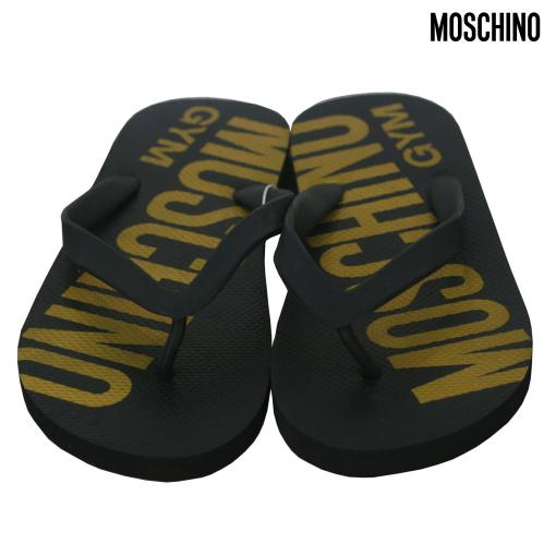 Moschino Gold-Black Papucs